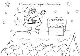 Coloriage chanson de Noël  Lastu vu le petit bonhomme