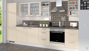 Einbauk He Planen Küchenzeile Norina 1351 Magnolia Inklusive Glashängeschränke