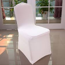 Cheap Chair Covers For Weddings 300 Pcs White Universal Stretch Polyester Spandex Party Wedding