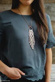 diy necklace images Simple diy macrame necklace lia griffith jpg