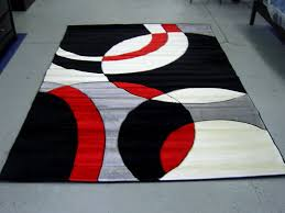 Black And Red Shaggy Rugs Red And Black Carpet Rugs Carpet Vidalondon Red Area Rugs