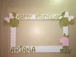 photo frame party favors photo booth frame to take pictures minnie mouse pink gold birthday