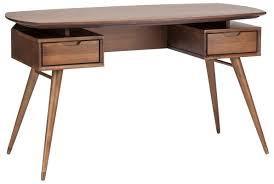 Modern Walnut Desk Carel Desk In Walnut Modern Classic Desks Home And Office