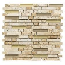 brown mosaic glass u0026 stone wall tile l 300mm w 308mm