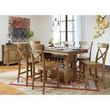 7 piece counter table w storage set by signature design by ashley