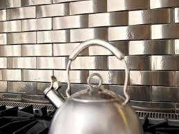 kitchen metal tile backsplashes hgtv stainless steel subway