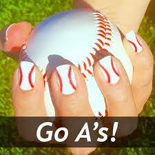 oakland athletics baseball nail art designs