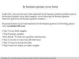 hr business partner resume sample hr business partner cover letter