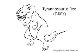 dinosaur facts tyrannosaurus rex dinosaur coloring
