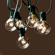 Outdoor Bulb Lights String by Globe String Lights With G40 Bulbs 25ft By Deneve Green N A