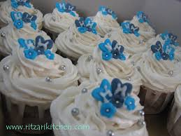 diamond wedding anniversary cupcakes royal blue and silver wedding cupcakes 25th wedding anniversary