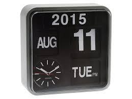 amazon com karlsson mini flip black dial casing wall clock white