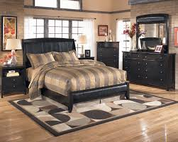Ashley Bedroom Set With Leather Headboard Queen Upholstered Sleigh Headboard With Platform Style Footboard