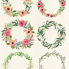 watercolor clipart floral frame png wedding bouquet arrangement