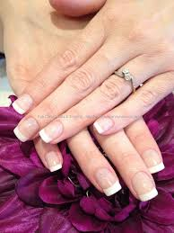white acrylic french tips u2026 absolutely love these hair and