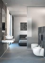 schlafzimmer mit bad matt glas wand raumaufteilung elemet badezimmer schlafzimmer