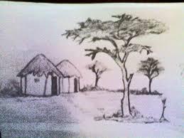 indian village scenery sketches pencil sketch of indian village