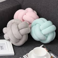 online shop knot ball chunky cushion concise throw knotted pillow