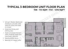 3 bedroom unit floor plans connor greenhills condominium for sale at greenhills