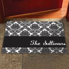 personalized snowmen stick family doormat multiple sizes