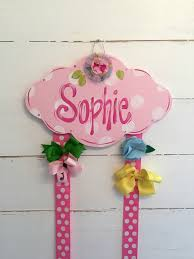 bow holder personalized hair bow holder pink cloud ladeedahart