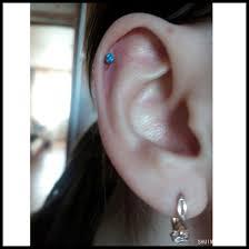 bar earring cartilage pair opal bioplast acrylic bar push in labret stud lip bar