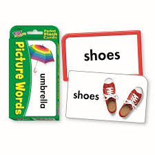 pocket flash cards picture 56 pk words 3 x 5 two sided cards the