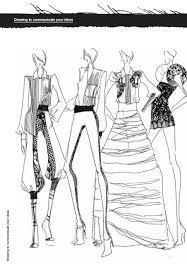 drawn fashion rough pencil and in color drawn fashion rough