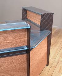 Industrial Reception Desk by Steel Reception Desk Stoneline Designs