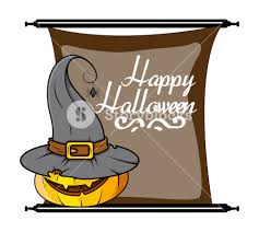 halloween pumpkin witch hat vector royalty free stock image