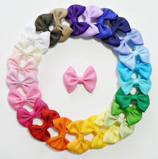 wholesale hair bows a20 small grosgrain hair bow without knot wholesale