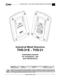 installation manual ths21 personal protective equipment safety