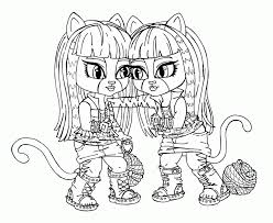 monster doll coloring pages kids coloring