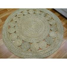 Round Seagrass Rug by Chunky Round Braided Jute Natural Fiber Rugs Free Shipping