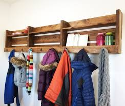 ana white small pallet inspired coat rack with shelves diy
