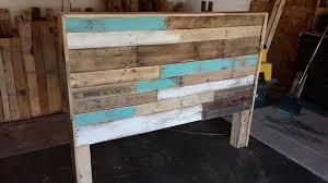 Headboard Made From Pallets Diy Hand Built Pallet Bed With Headboard 99 Pallets
