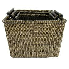 rattan shelf tote small at home at home