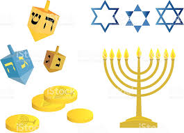 hanukkah dreidels hanukkah dreidels gelt and menorah stock vector more images