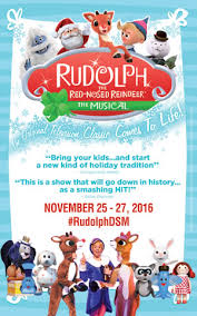 upcoming events rudolph red nosed reindeer musical