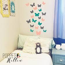 butterfly wall decal set vinyl wall art butterflies girls zoom