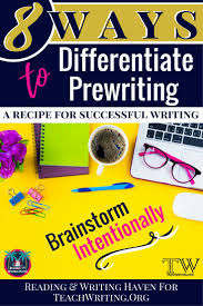 8 meaningful ways to differentiate prewriting