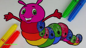 larva coloring page coloring pages rainbow larva how to color