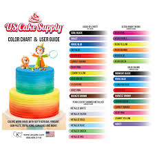 us cake food coloring supply by chefmaster airbrush cake color set