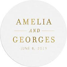 wedding coasters personalized custom wedding coasters paper source