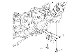 repair instructions on vehicle transmission mount replacement