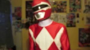 turbo man halloween costume trying on zyuranger red mm power rangers 20th anniversary