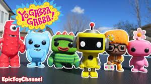 yo gabba gabba pop character toys kids singing hold yo