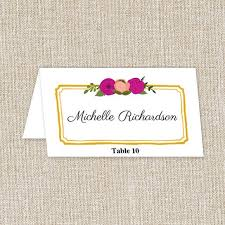 wedding place cards u0026 printable reception place cards