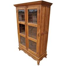 Armoire Solid Wood Study Solid Wood Glass Door Cabinet Bookcase Armoire
