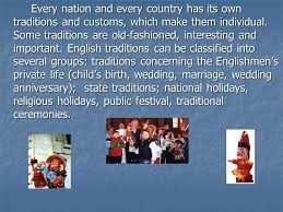 customs and traditions of great britain автор учитель английского
